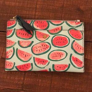 J. Crew watermelon clutch / wallet NWOT